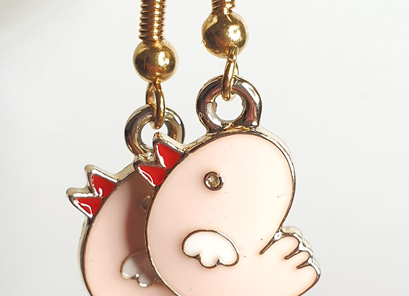 Earrings with chicks