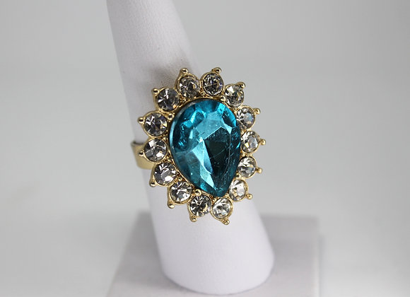 Blue acrylic ring