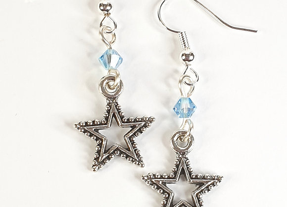 Star earrings with Swarovski element