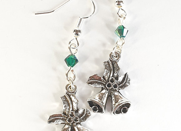 Bell earrings with Swarovski bicone