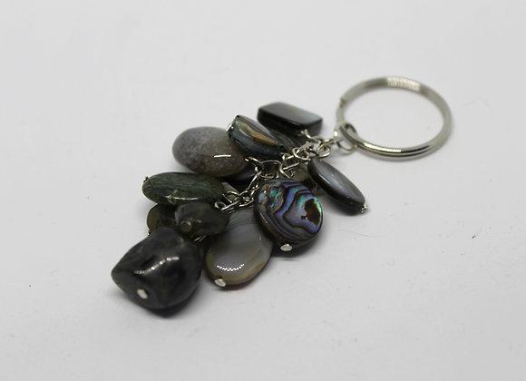 Mixed gem stone keyring