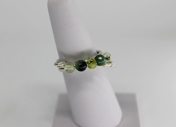 Shades of green ring