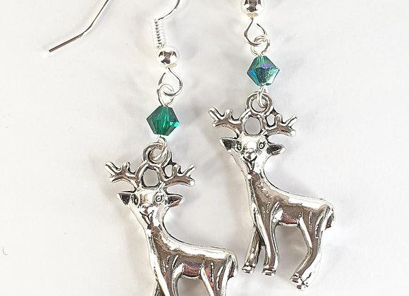 Reindeer earrings with Swarovski element