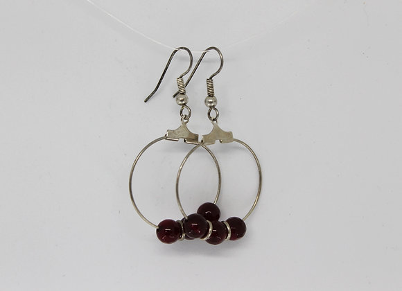 Strawberry quartz earrings
