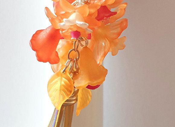 Keyring Orange and red with tassle