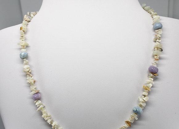 Ethiopian opal chip necklace