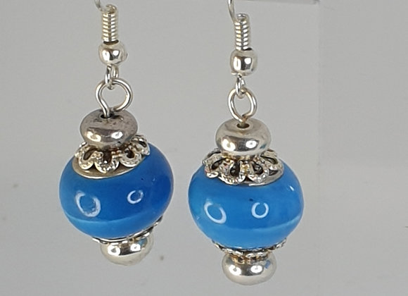 Sky blue charm bead Earrings