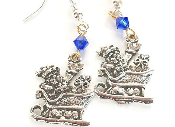 Santa Sleigh Earrings