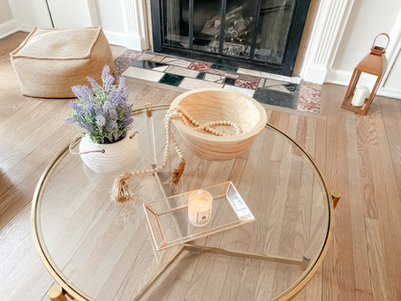 Natural Wood Bead Garland - Coffee Table Decoration