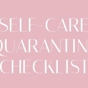 Self-Care Quarantine Checklist