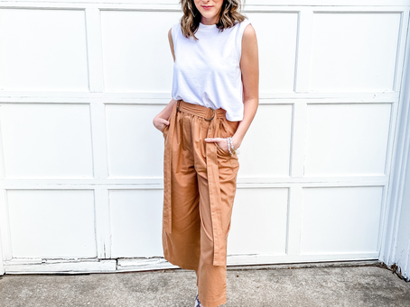 How to Wear Caramel Loose Fit Crop Legged Pants