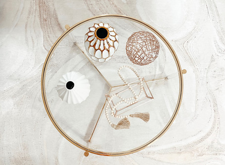 Coffee Table Decoration Inspiration - Espresso Neutrals
