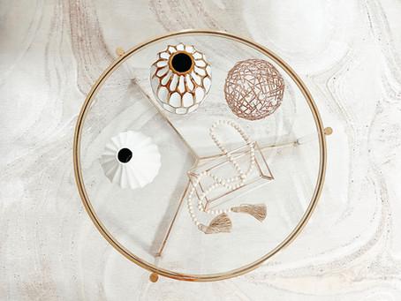 Coffee Table Decoration Inspiration - Espresso Neutrals