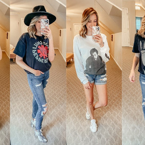 5 Favorite Rock Band Concert Tee Collection - & How To Style Them