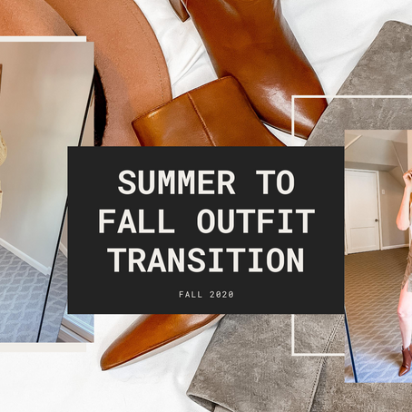 Summer to Fall Outfit Transition - 2020