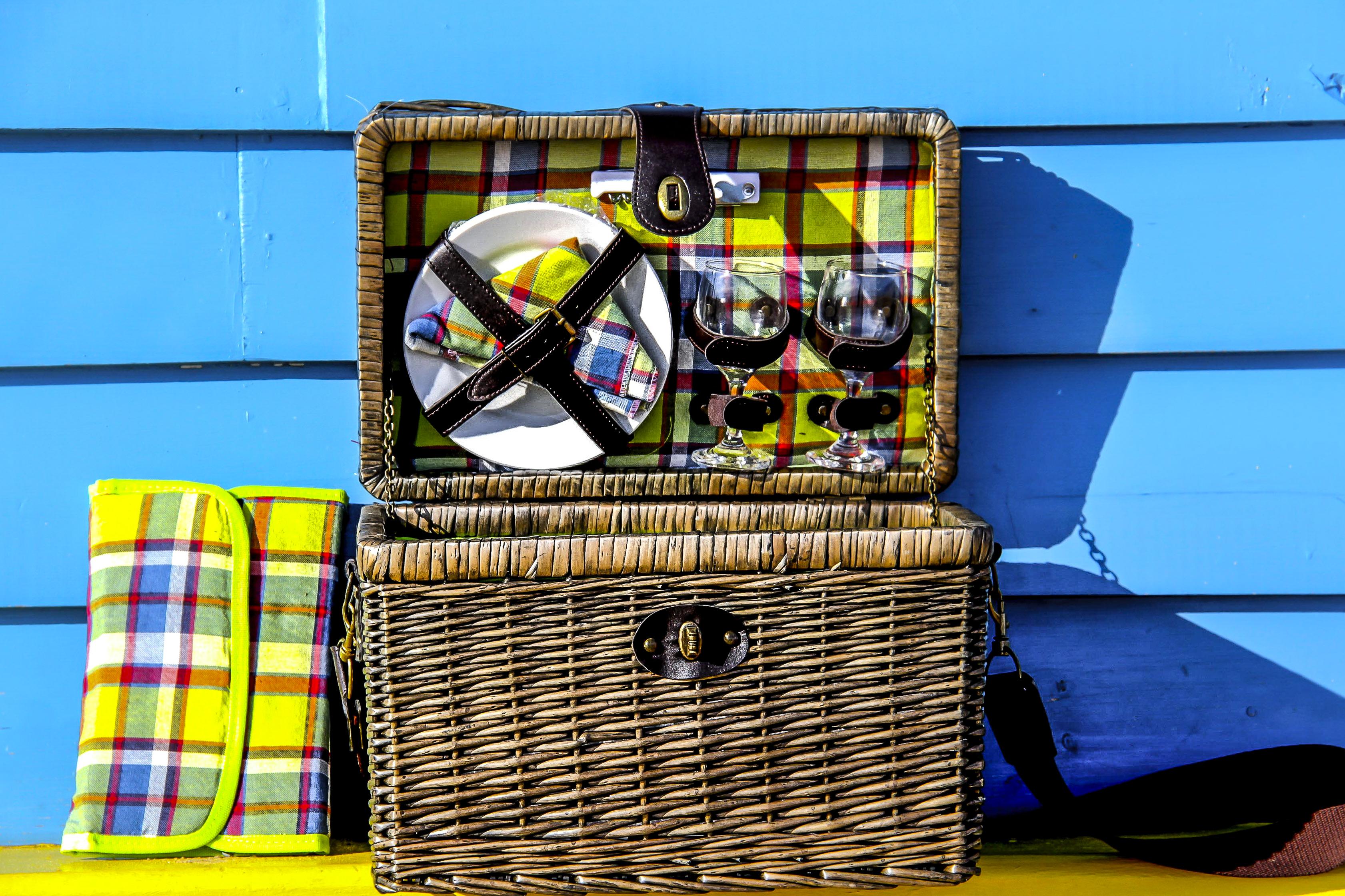handwoven picnic baskets