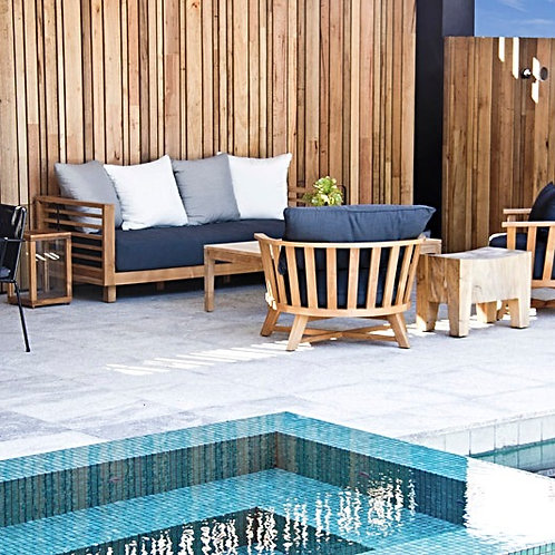 outdoor lounge chairs. outdoor lounges. teak armchairs. outdoor furniture