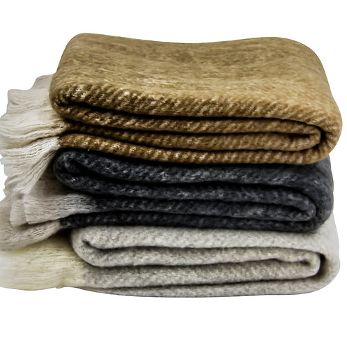mohair blend throw rugs