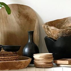 teak bowls & platters