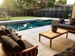 polaris sofa and barrell chairs