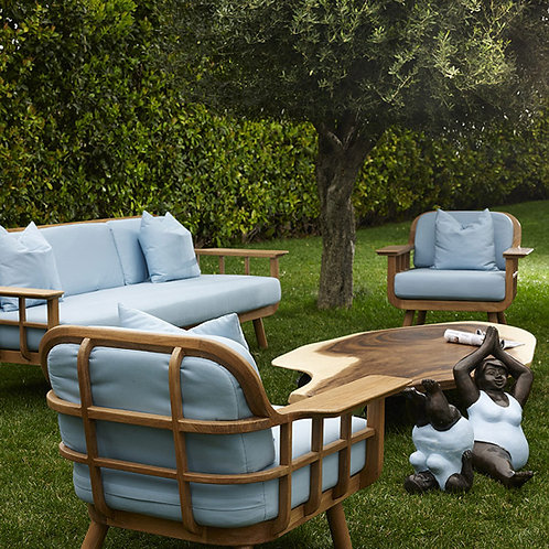 outdoor furniture. outdoor sofa and outdoor lounge chairs.