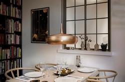 clava dine in brushed copper