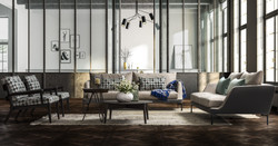 capetown sofa with ege armchairs