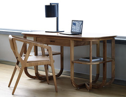 paros desk with stealth chair