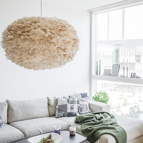 goose feather light shade. pendant light shade. eos light shade. light shades.