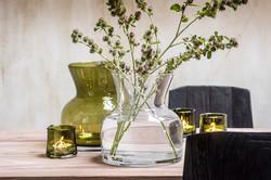 Belgian glass vases