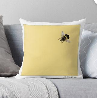 Jill Shields interior design, jillshieldsart,redbubble, little bumble bee,little bumble bee bag, bee, bumblebee, jillshieldsart1,jill shields art, mask little bumblebee, cushion little bumble bee, little bumble bee framed print, framed print