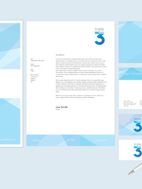 Triple 3 brand design