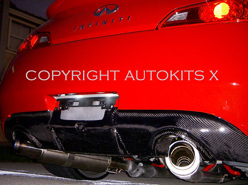 2008-2014 Infiniti G37 Coupe AK V1 Diffuser Style