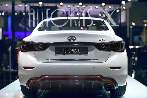 2014 - 2018 Infiniti Q50 Sedan LH-K Style Rear Diffuser