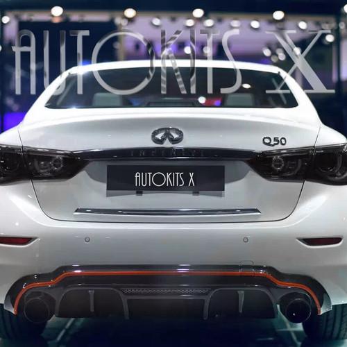 2017 2018 Infiniti Q50 Sedan Lh K Style Rear Diffuser