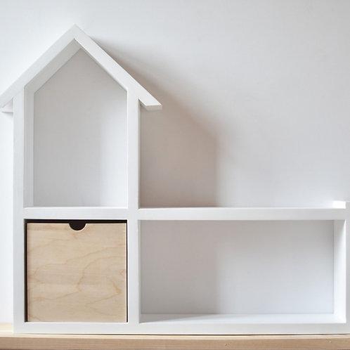 Repisa casa con cajón