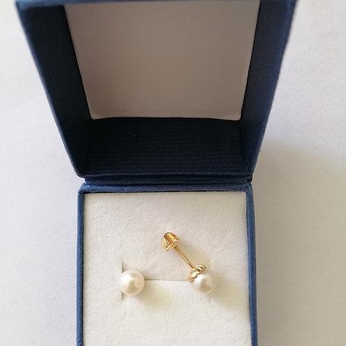 Perlitas de oro 6 mm