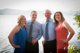 wedding guests at waterfront