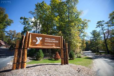 Camp main entrance sign