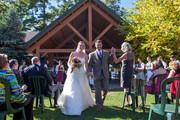Wedding ceremony at pavilion