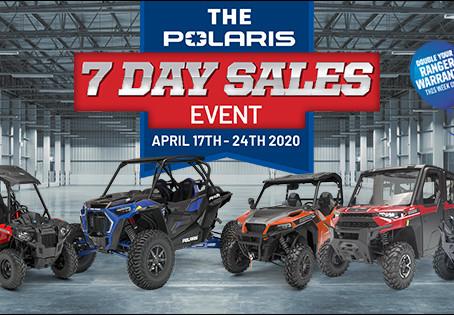 Polaris 7 day sale event