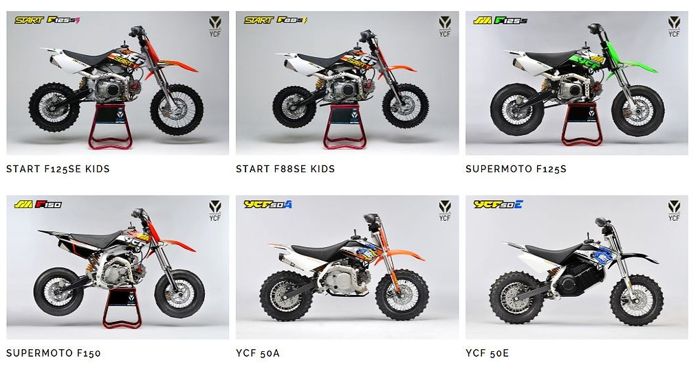 YCF motorbikes, forbes small engines, pit bikes, honda crf, yamaha pee wee
