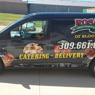 Rosatis is gone like a piza delivery @central_image_wraps & bloomington_car_wraps