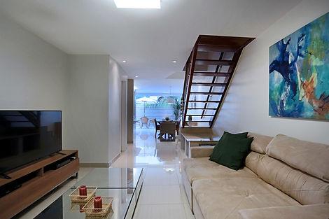 Sala de estar e TV decorada - Decora Arquitetura