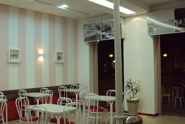 Interior sorveteria Bicota - Decora Arquitetura