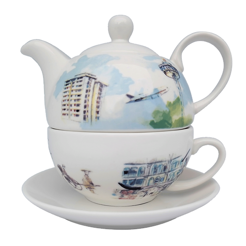 Teapot Set (Singapore Edition)