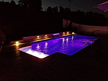 Spakle Pools, Inc. New Liner Pool Construction Waterfall And Bubbles