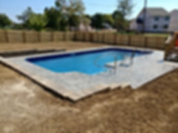 Spakle Pools, Inc. New Liner Pool Stamped Deck