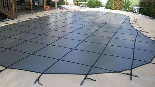 Spakle Pools, Inc. Safety Cover Installed
