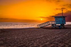 Malibu Lifeguard Tower Sunset-1